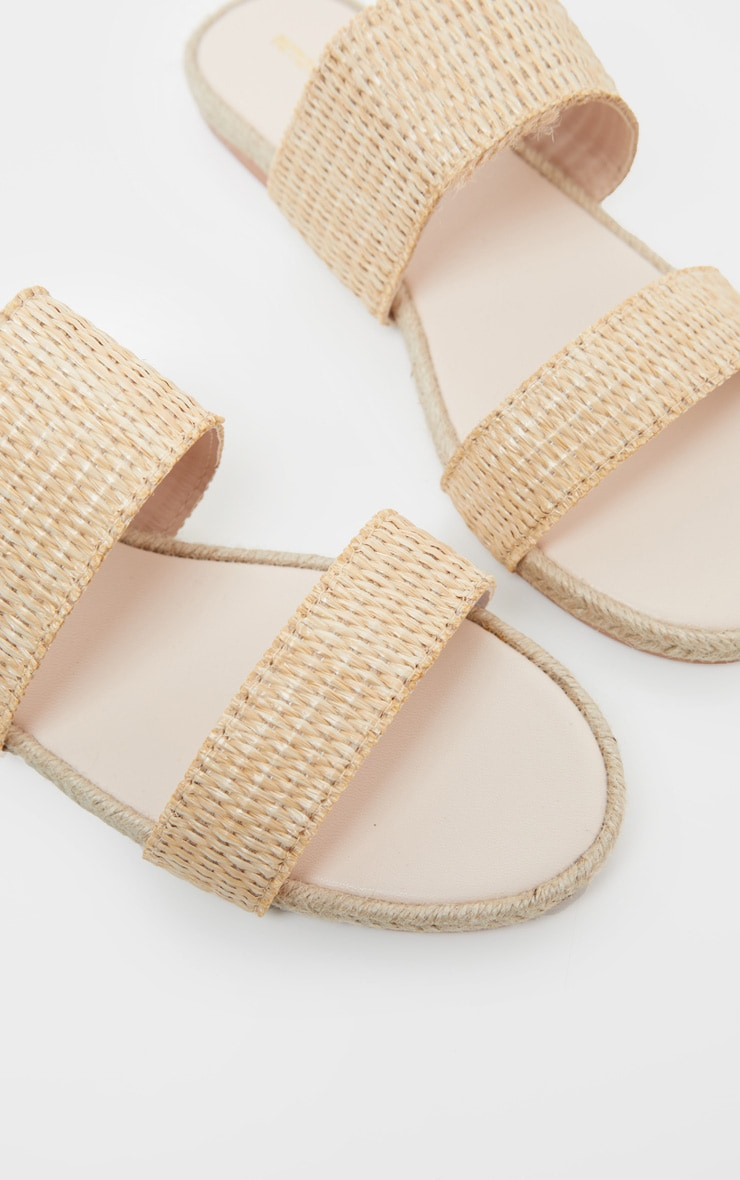 Natural Cross Strap Espadrille Sandal 4