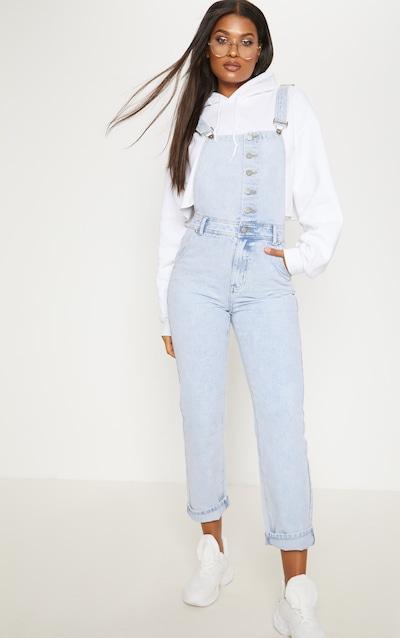 Salopette en jean très délavé à boutons 425b2a53361d