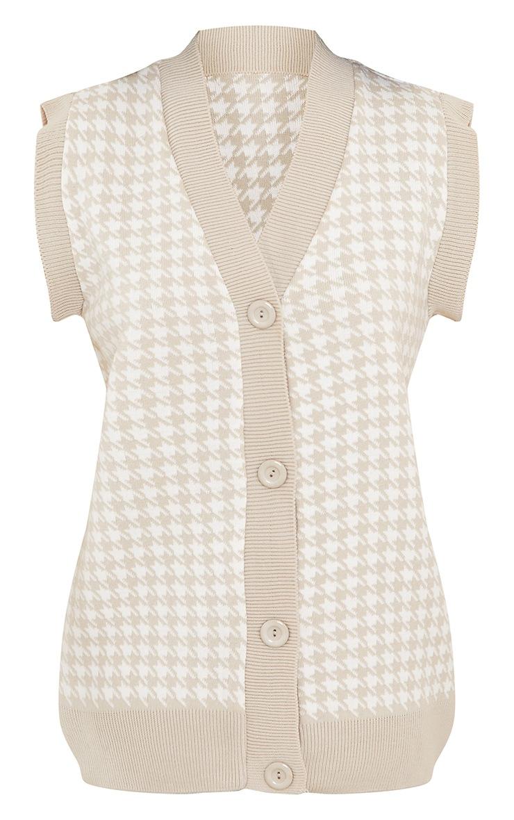 Petite Stone Button Through Sleeveless Vest 5