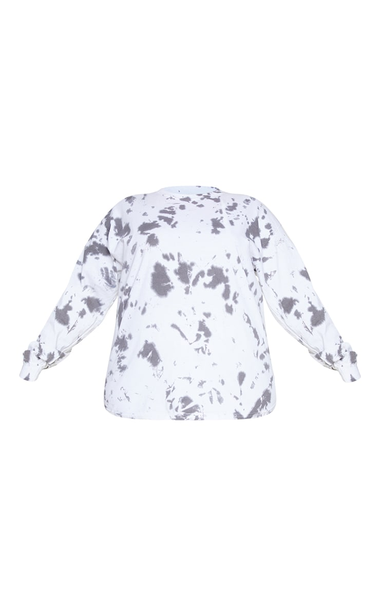 Plus Black Tie Dye Tokyo Long Sleeve T-Shirt 5