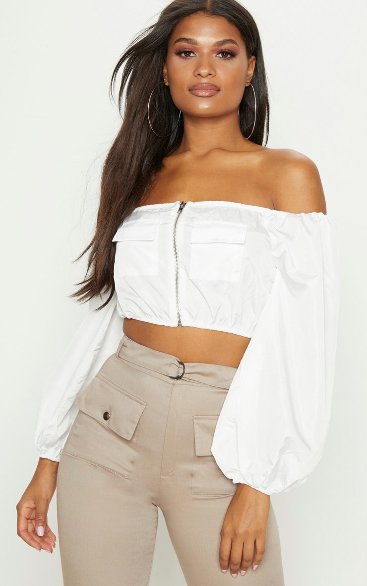Free Shipping With Paypal Official Site White Ribbed Tie Detail Crop Top Pretty Little Thing Clearance Outlet Store Sale Discounts For Sale Top Quality EduM0B9v7S