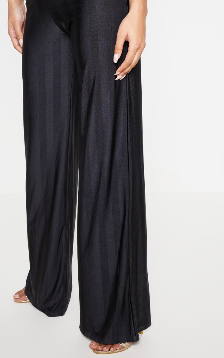 Black Disco Stripe Casual Wide Leg Trouser 5