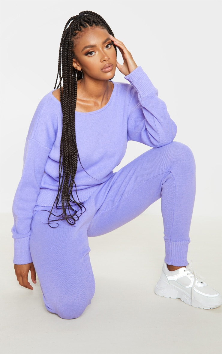 Lilac Knitted Lounge Set 5