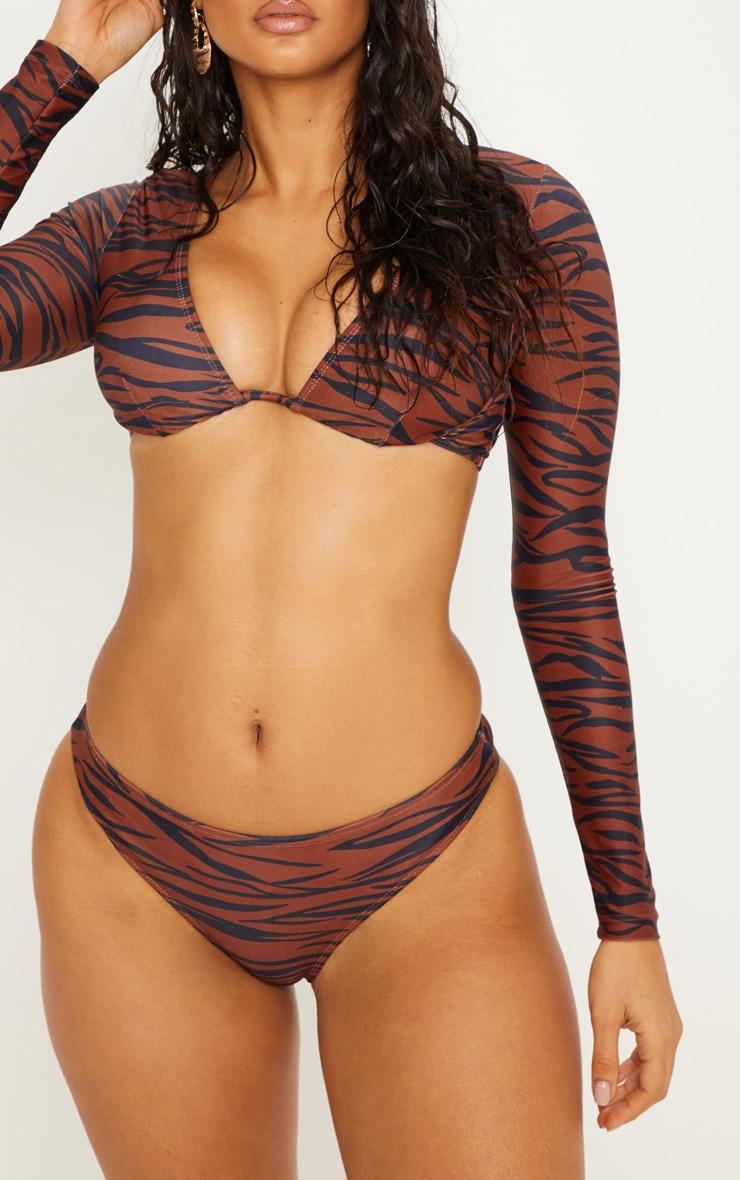 Rust Zebra Cheeky Bum Bikini Bottom 1