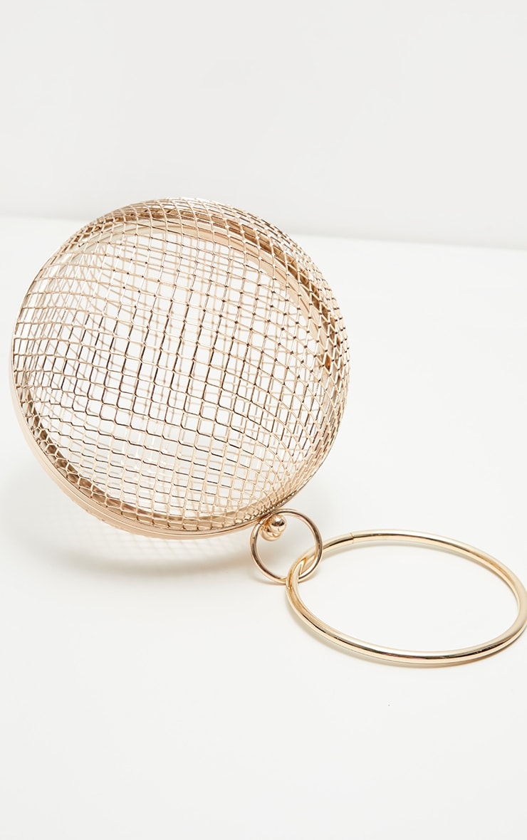 Gold Caged Sphere Clutch 2