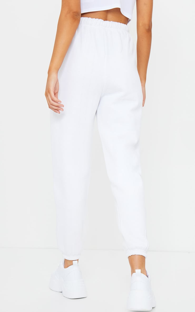 White Seam Front Detail Joggers 3