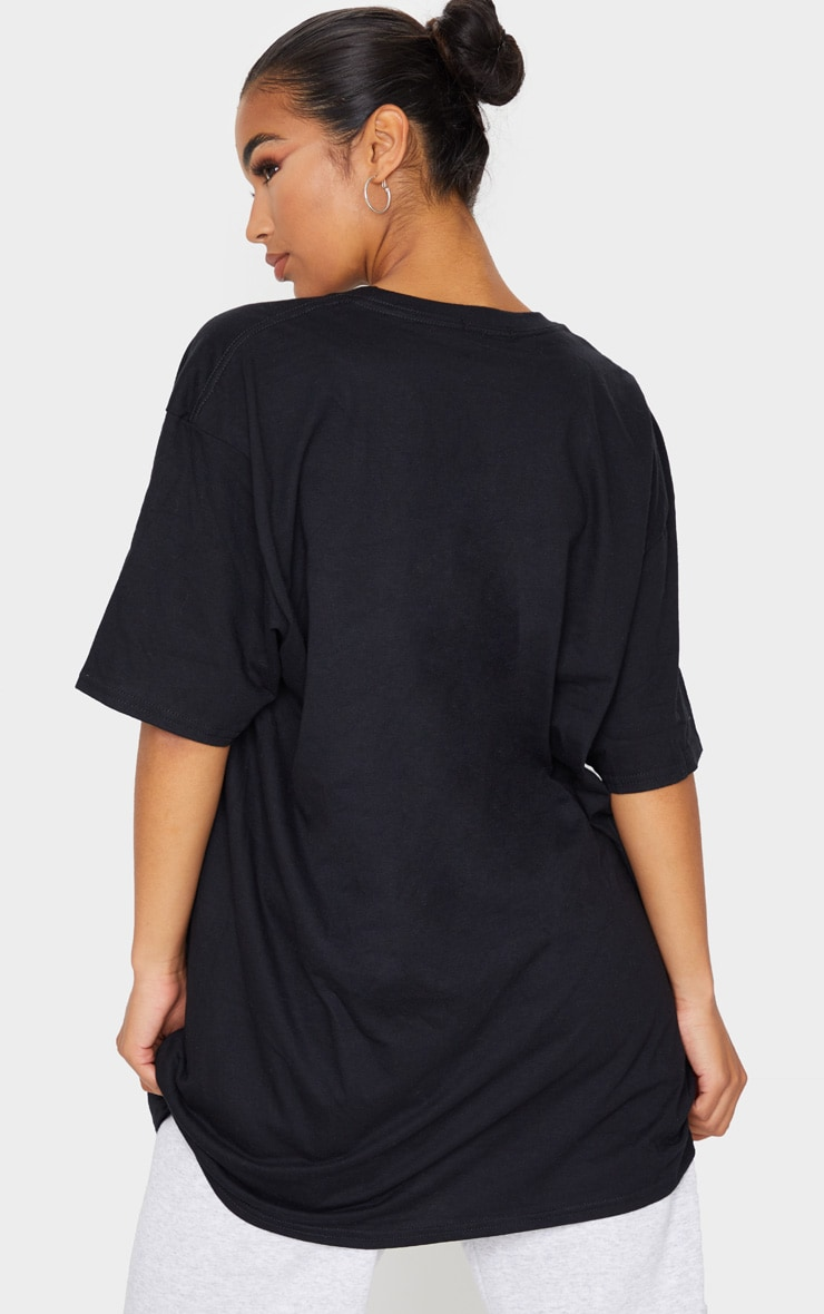 Black Oversized Boyfriend T Shirt 2