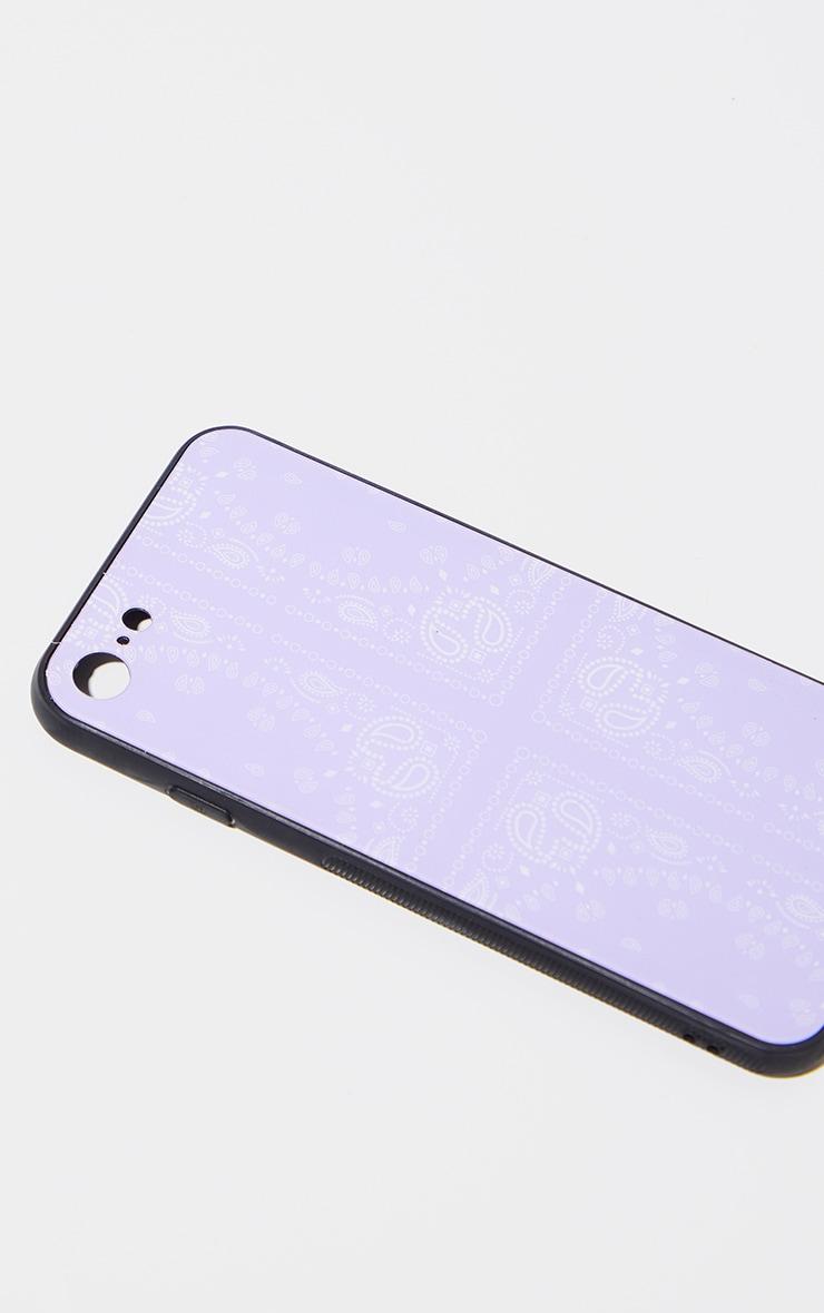 Lilac Scarf Print Iphone 8 Phone Case 2