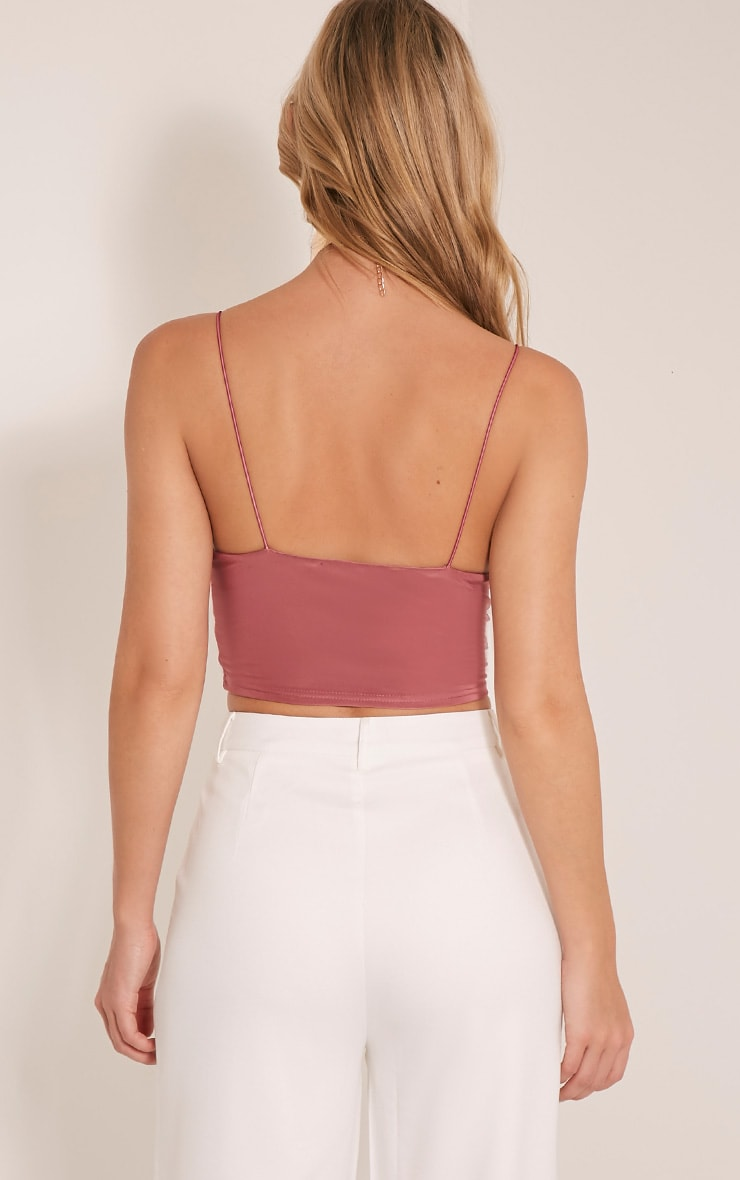 Azariah Rose Slinky Plunge Crop Top 2