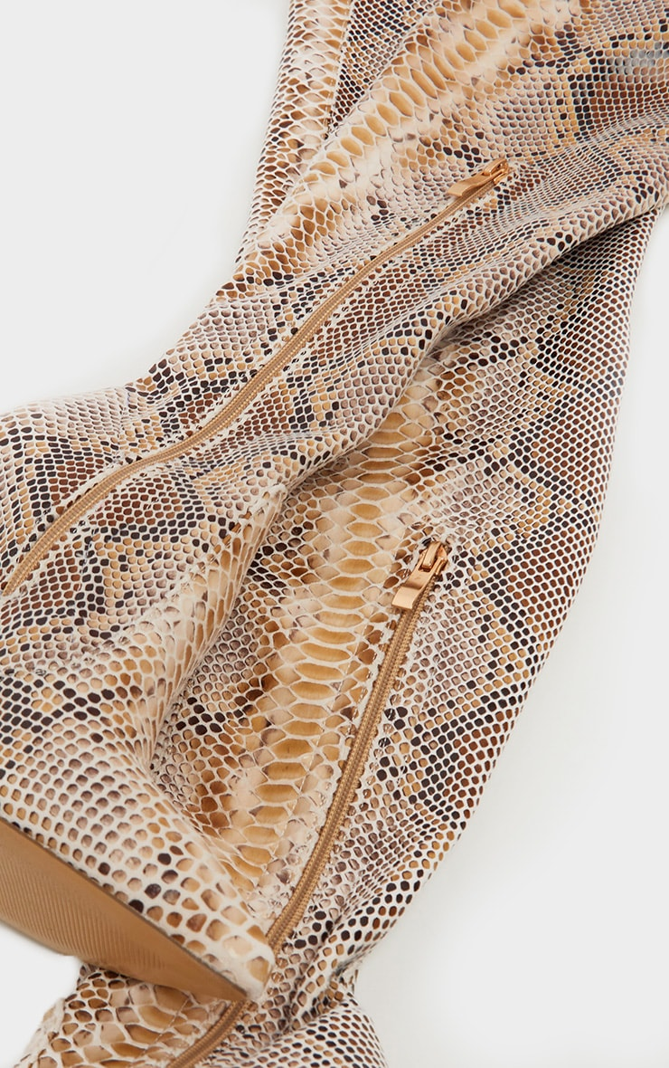 Snake Thigh High Sock Boot 4