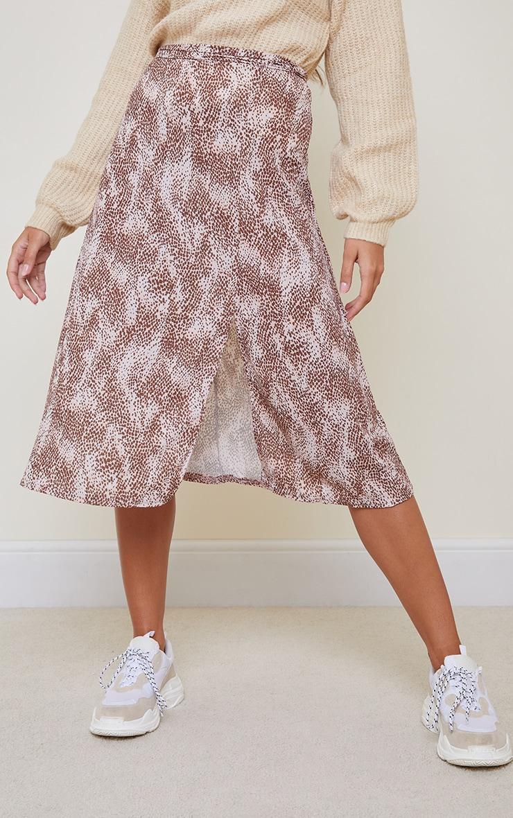 Pink Cheetah Print Floaty Midi Skirt 2