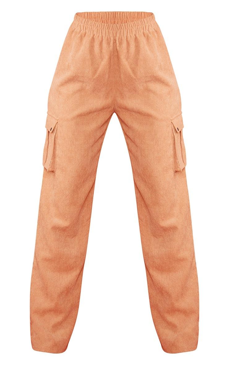 Sand Cord Cargo Wide Leg Pants 5