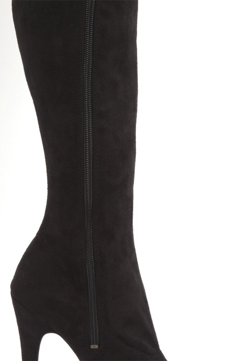 Izzy Black Suedette Over The Knee Boots 5