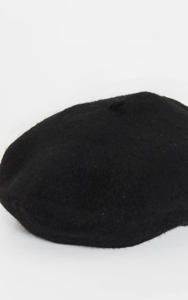 Black Felt Beret 3