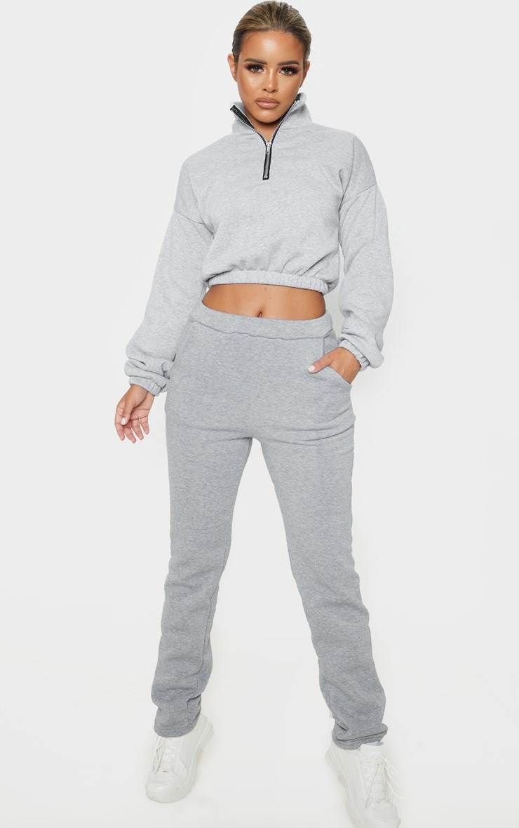 Petite Grey Oversized Sweat Jogger 1
