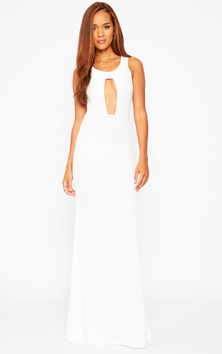 Brandy Cream Plunge Maxi Dress 3