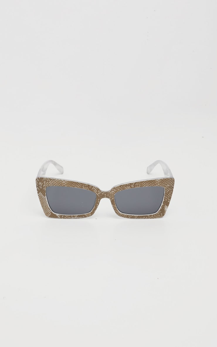 Snake Oversized Angular Square Sunglasses 2