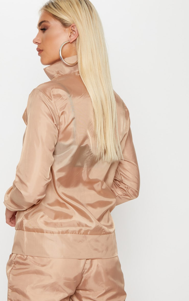 Dusty Pink Shell Zip Up Jacket 2
