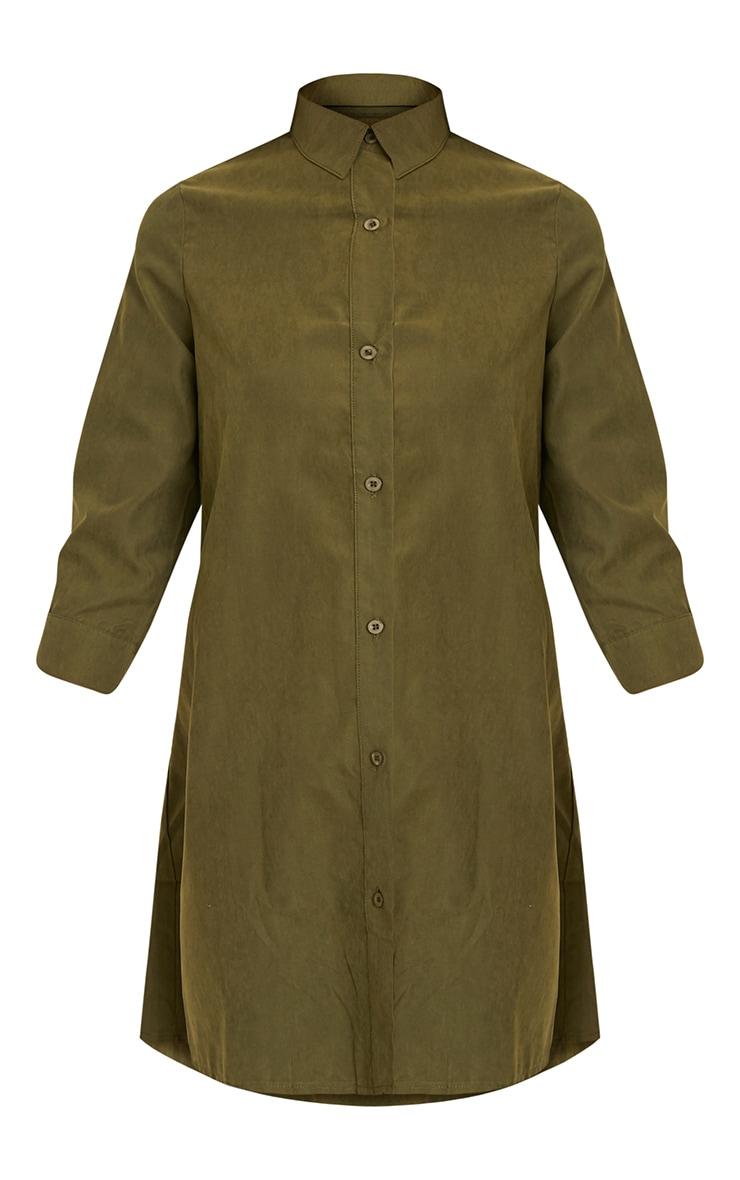 Leni Khaki Shirt Dress 3