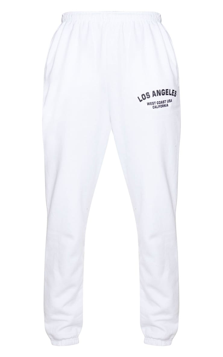 White Los Angeles Casual Jogger 5