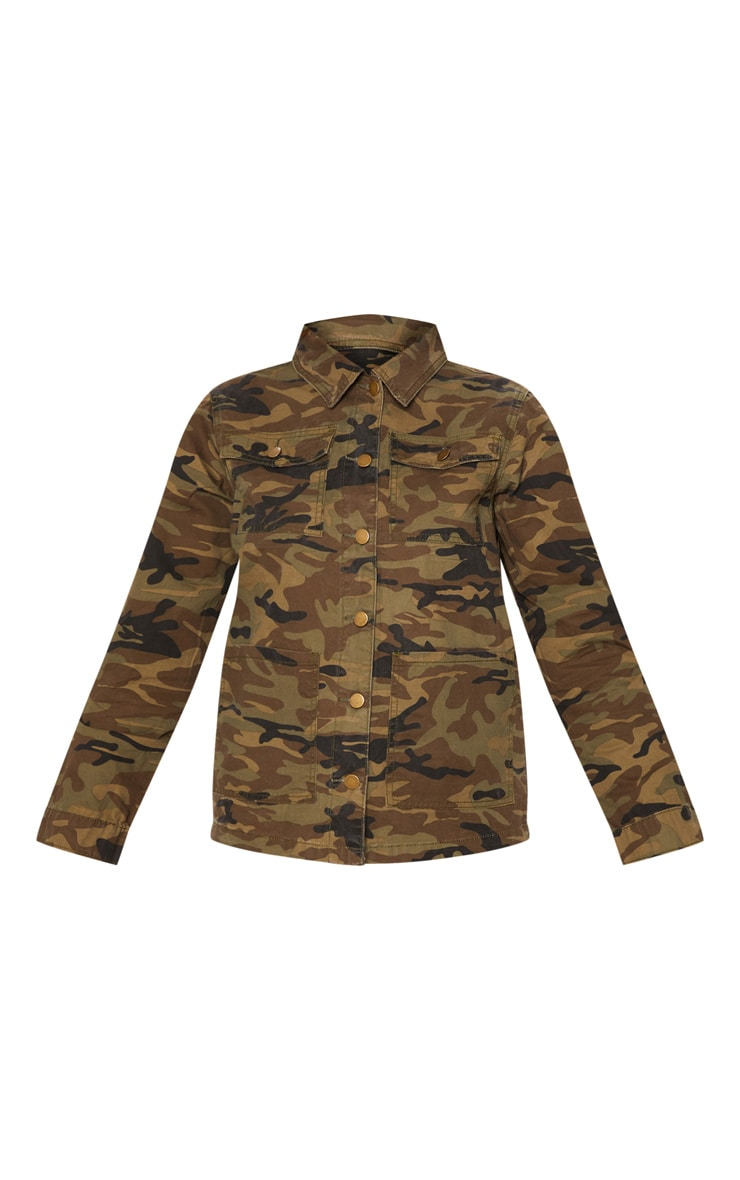 Camo Trucker Denim Jacket 3