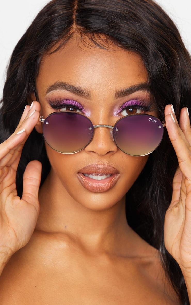 QUAY AUSTRALIA Multi Gradient Round Farrah Sunglasses 1