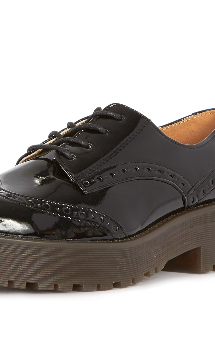 Taja Black Patent Brogue  3