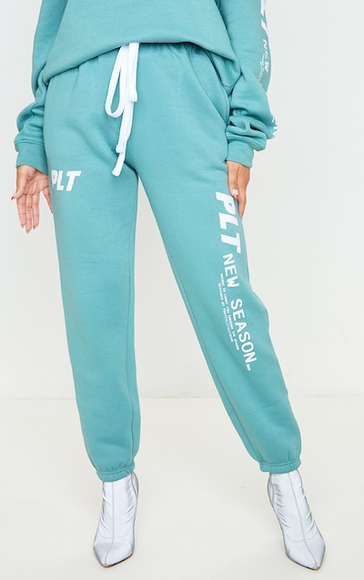 PRETTYLITTLETHING Dusty Turquoise New Season Jogger