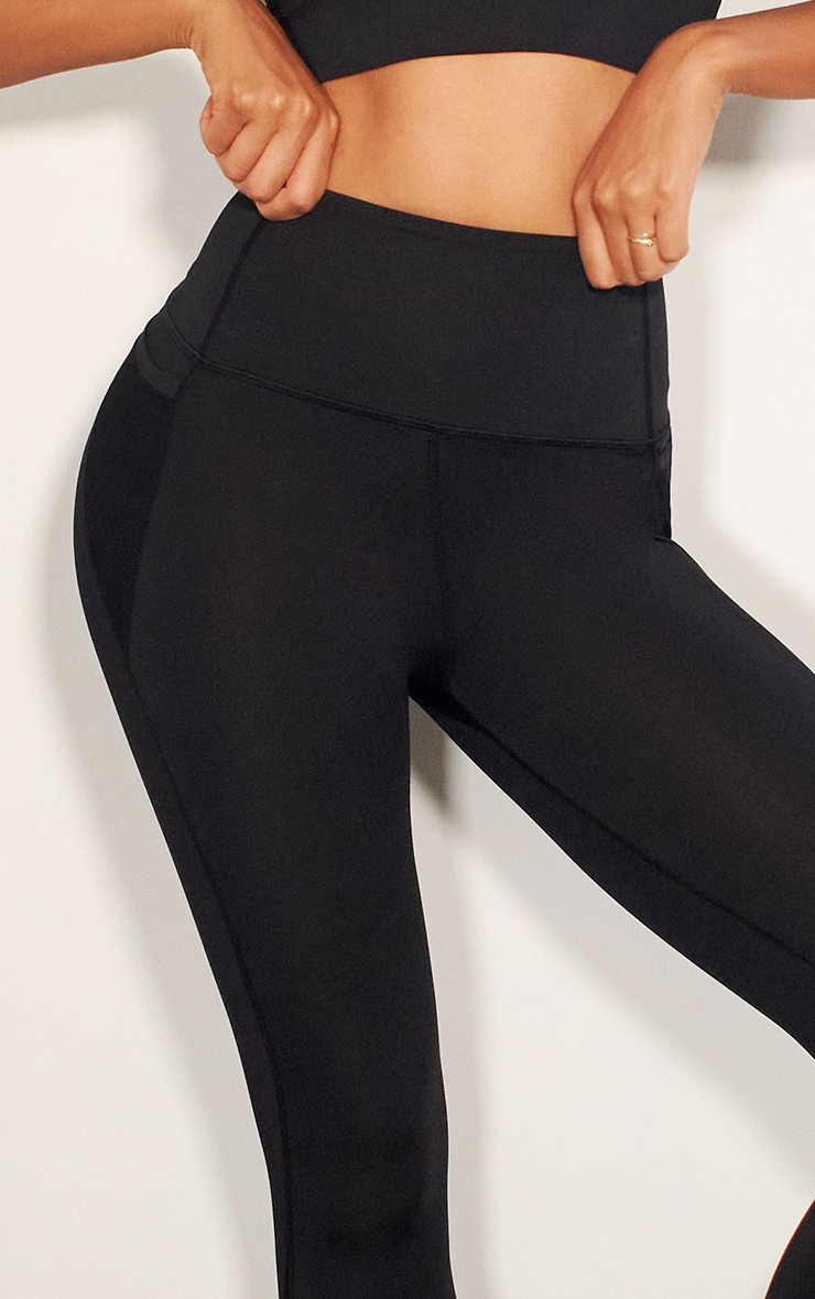 Black Mesh Pocket Detail Luxe Gym Legging 4