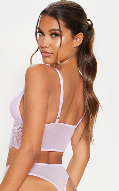 Lilac Harness Detail Strappy Bralet