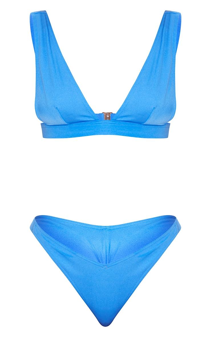 Cobalt Plunge Bikini Set 5