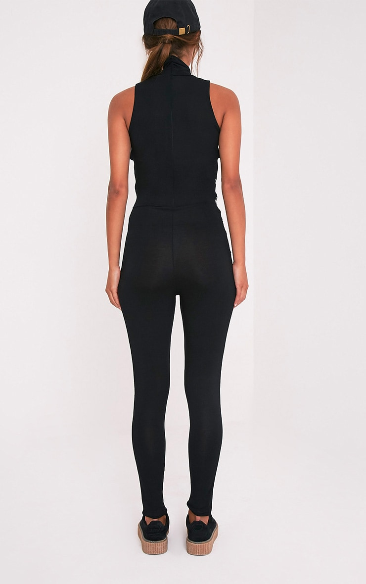Nilah Black Sports Band Jumpsuit 2