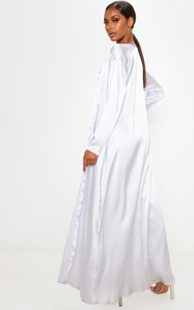 Grey Satin Kimono