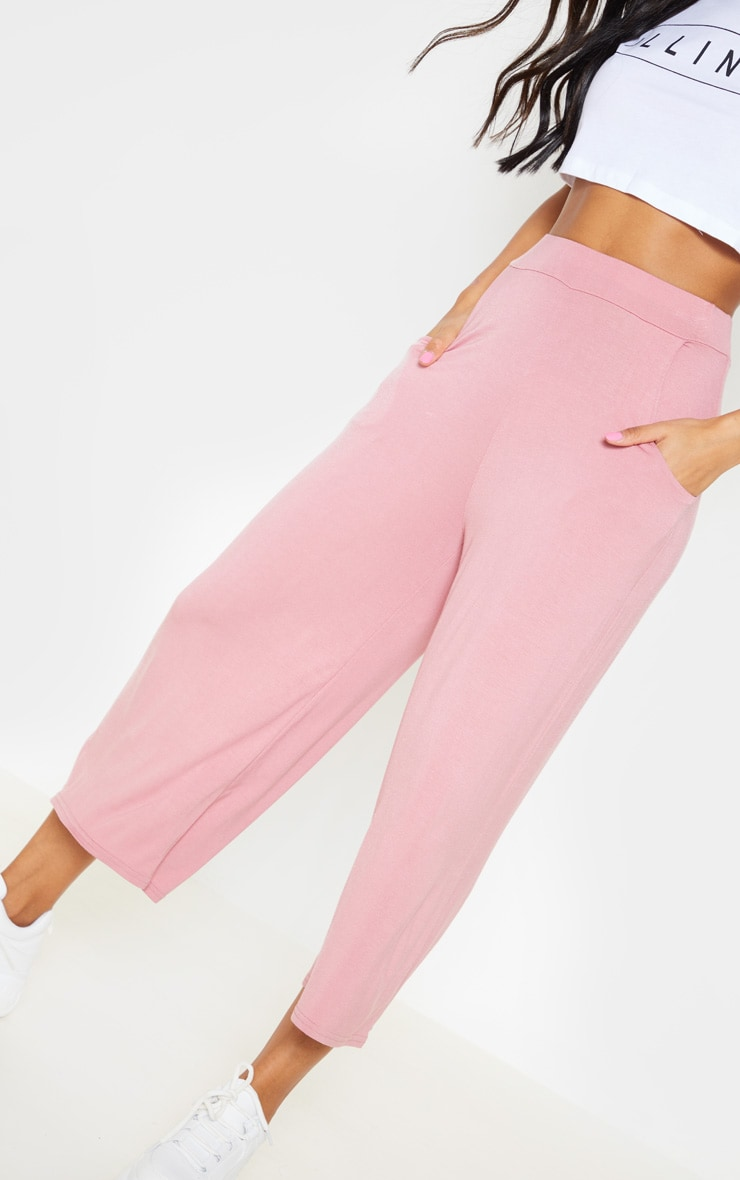 Rose Jersey Pocket Detail Culotte 5