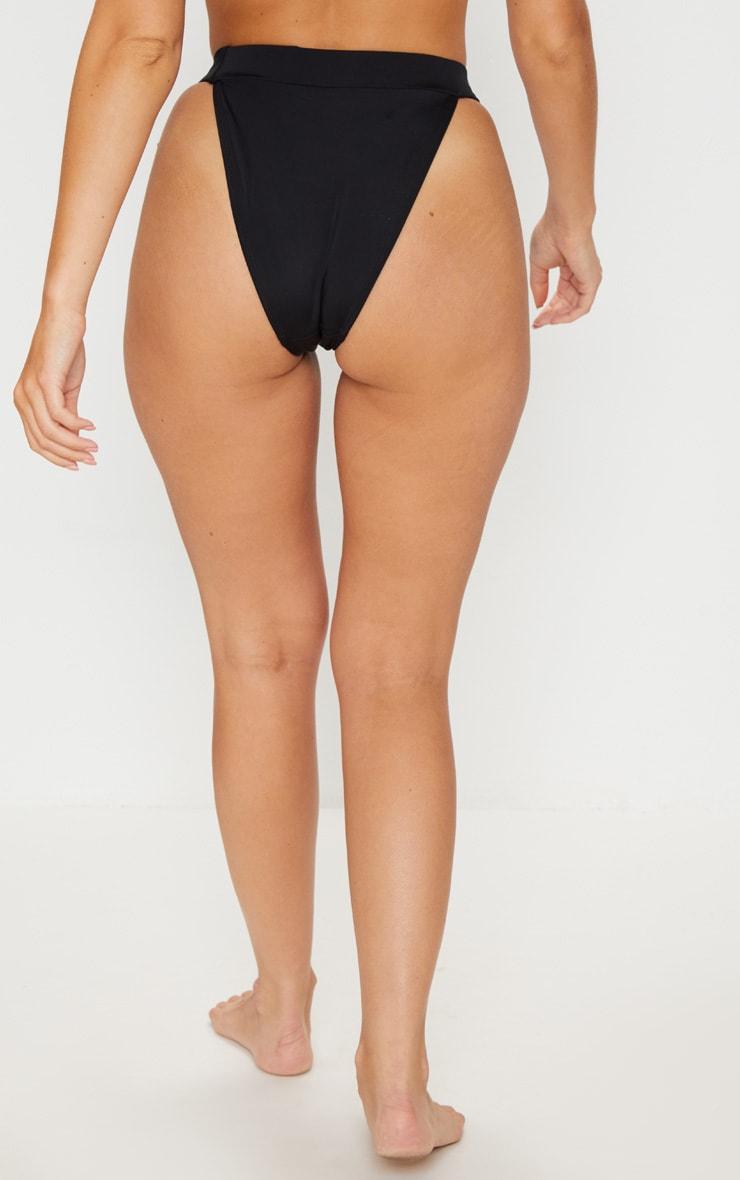 Black Lion Head High Rise Bikini Bottom 3