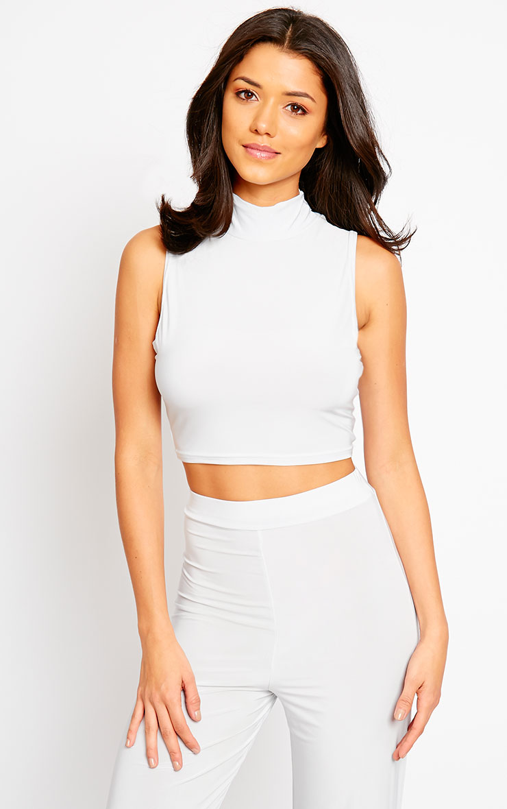 Remi Grey Soft Touch Crop Top 1