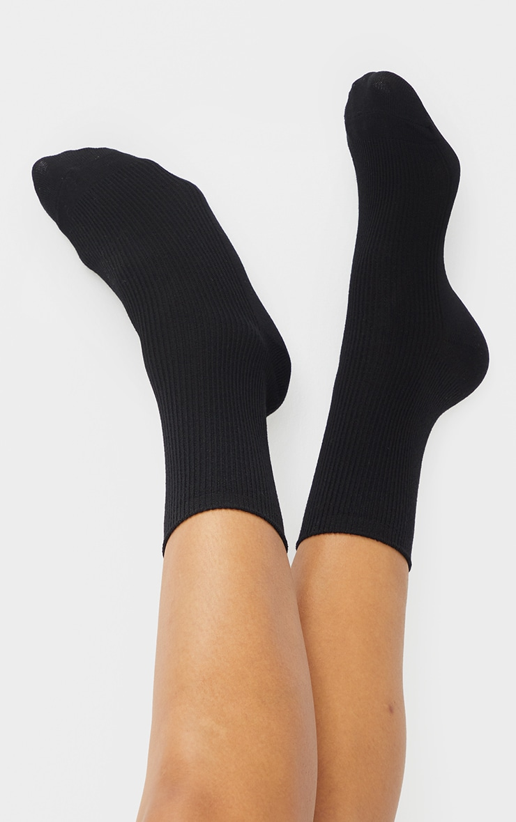 Black and White Two Pack Sports Socks 3