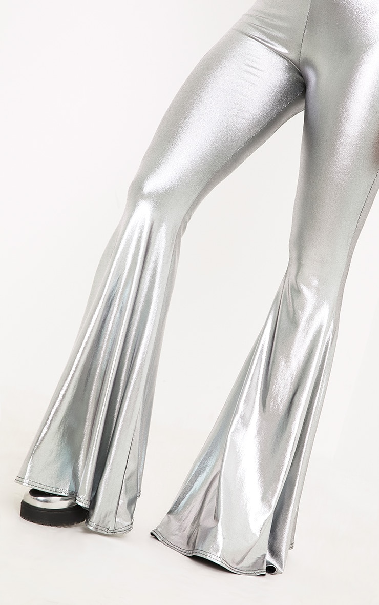 Mylene Silver Extreme Flare Trousers 6
