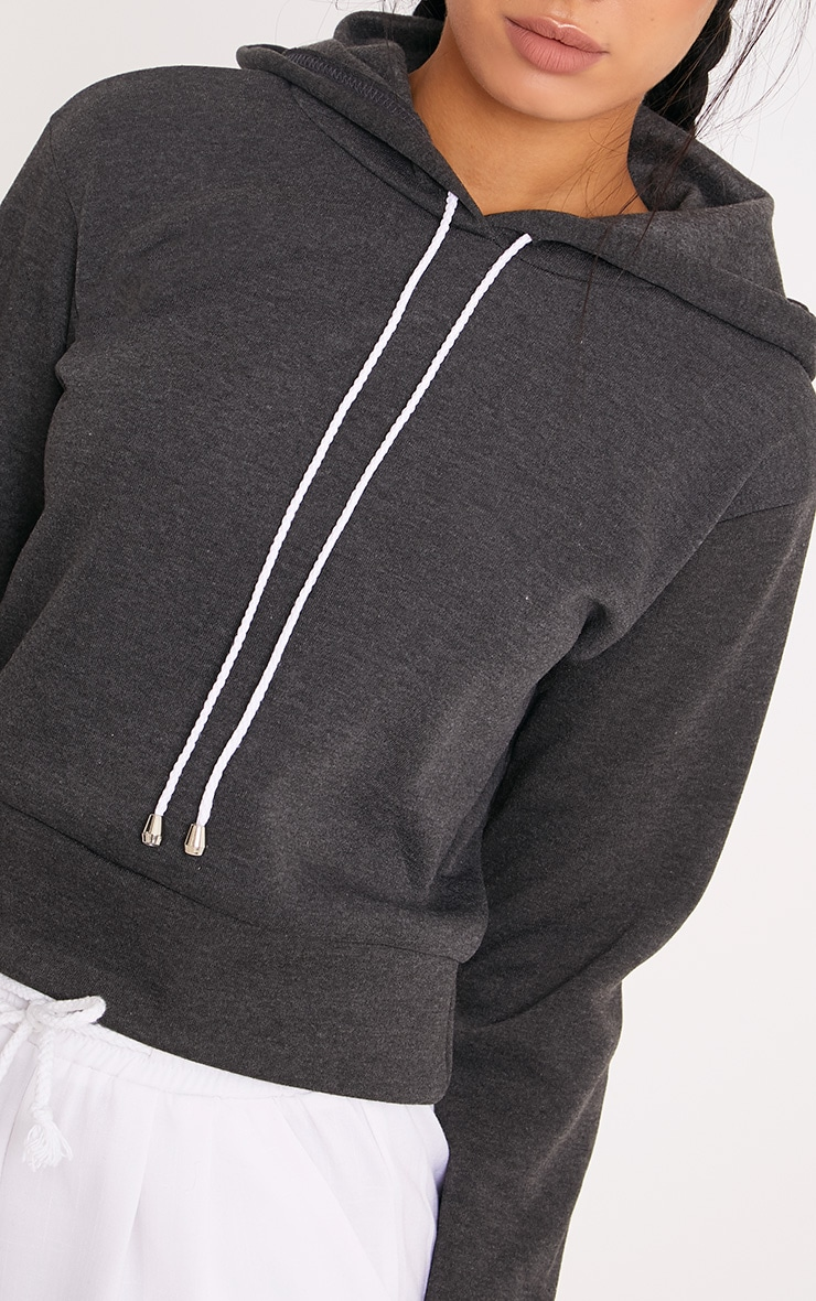 Belle Charcoal Cropped Hoodie 5
