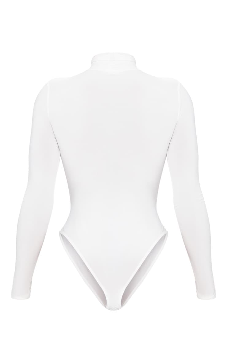 Shape white Slinky High Neck Bodysuit 4