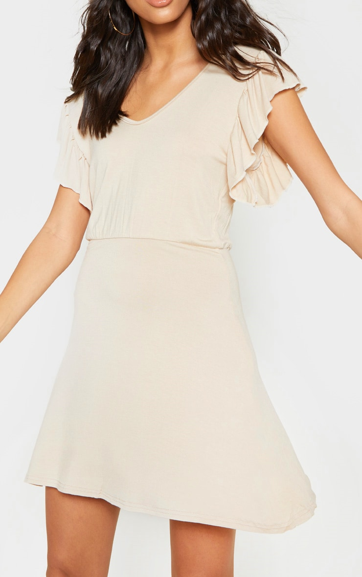 Stone Frill Sleeve Shift Dress 5