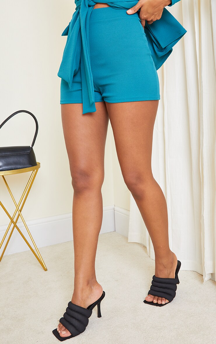 Teal Suit Shorts 2