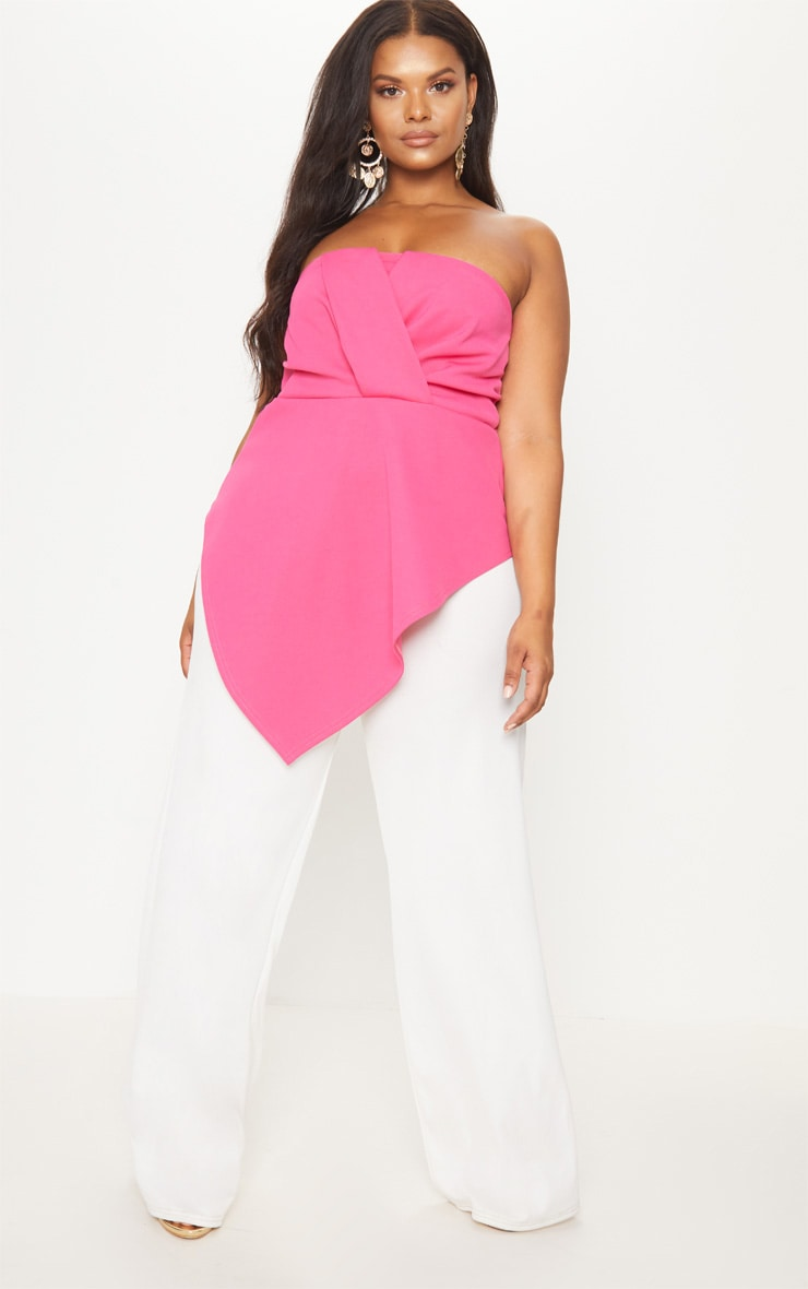 Plus Hot Pink Origami Bandeau Top 4