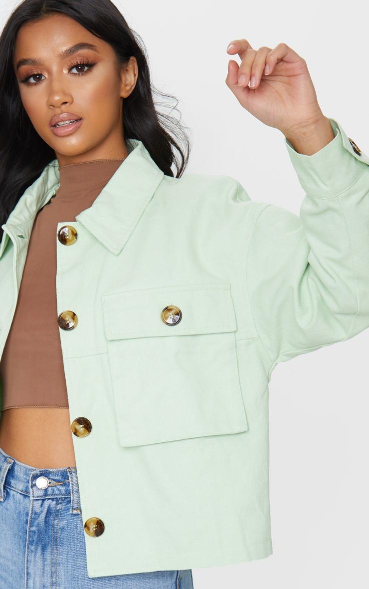 Petite Sage Green Cord Oversized Jacket 4