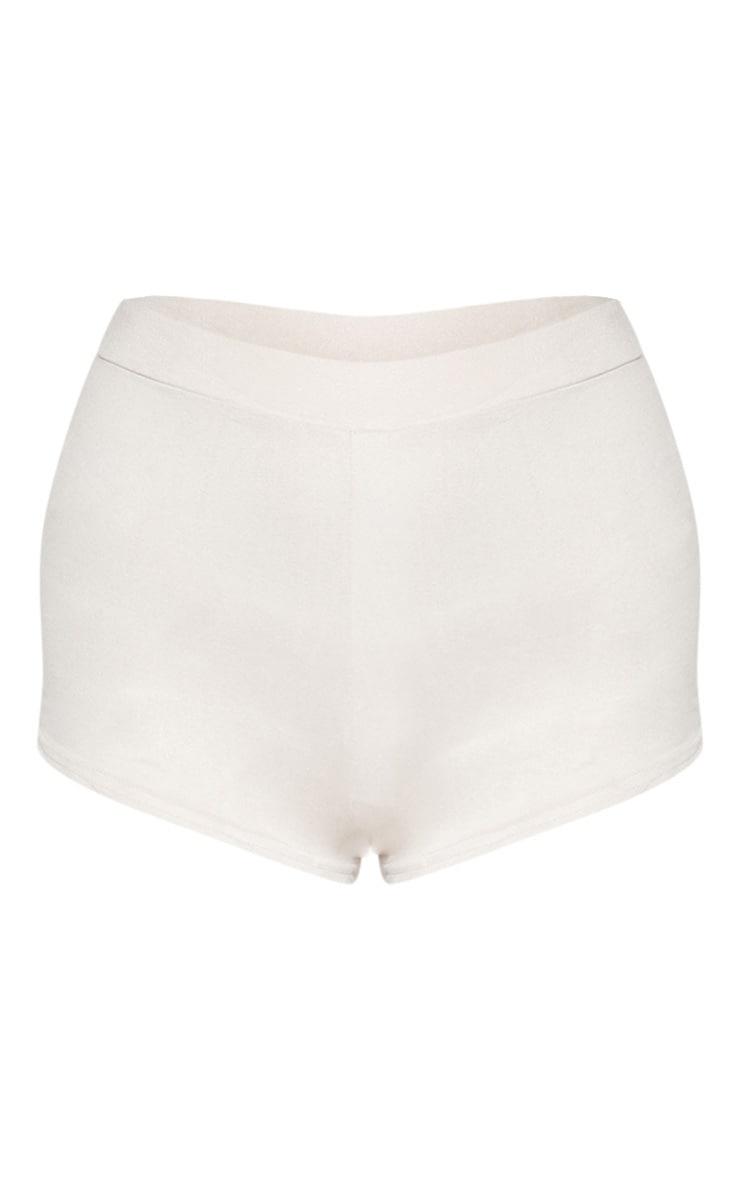 Cream Faux Suede Hot Pant 3