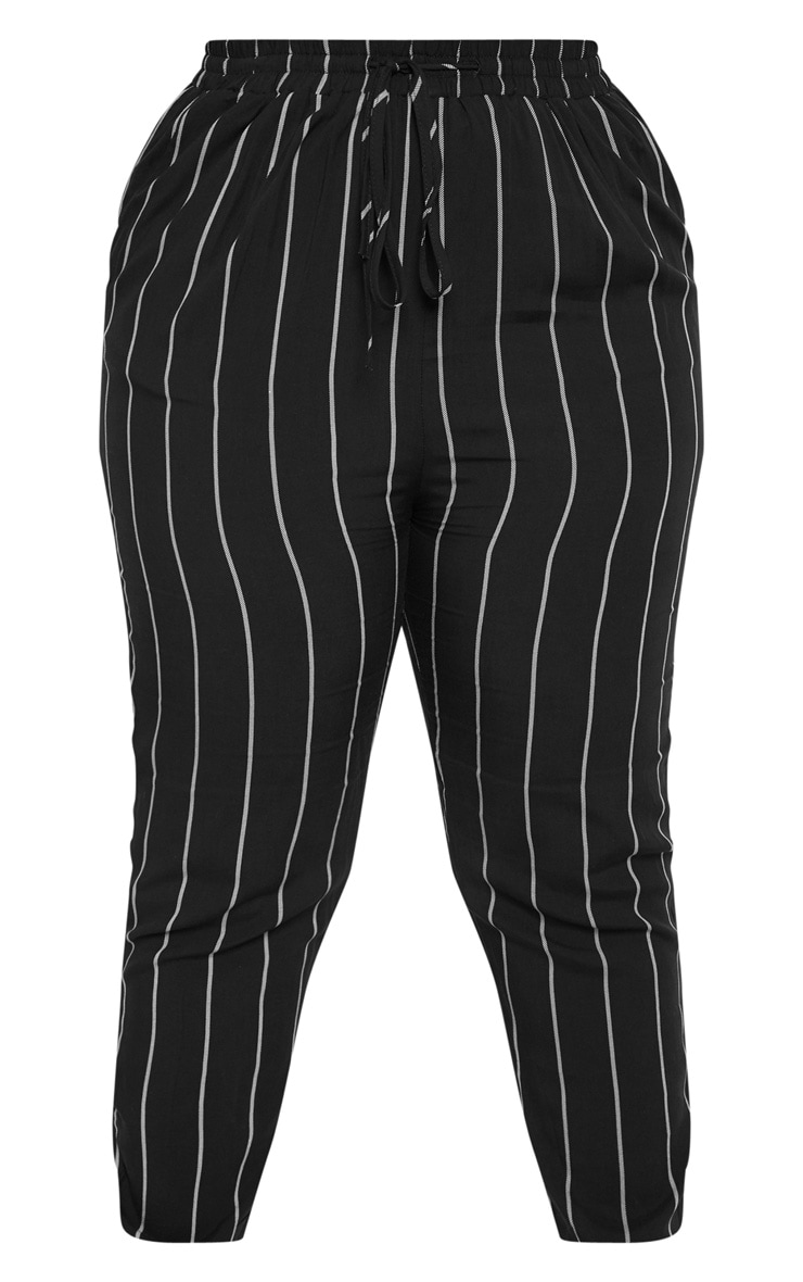 Plus Pin Stripe Casual Pants 3