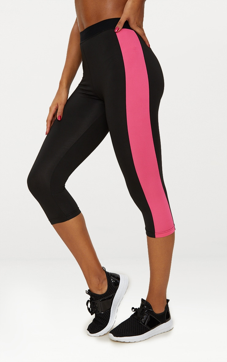 Black 3/4 Sports Leggings  3