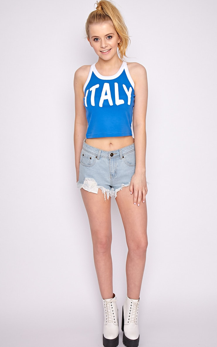 Sophia Blue Italy Vest Top 3