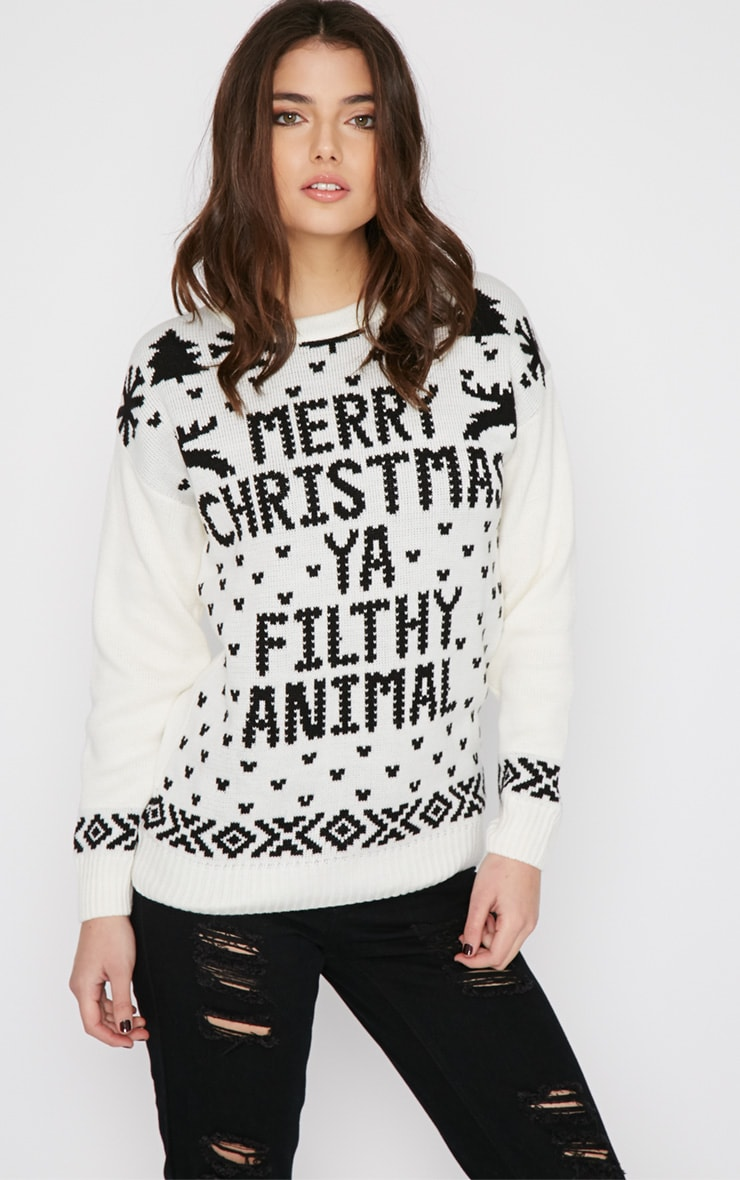 Sarah White Filthy Animal Christmas Jumper 4