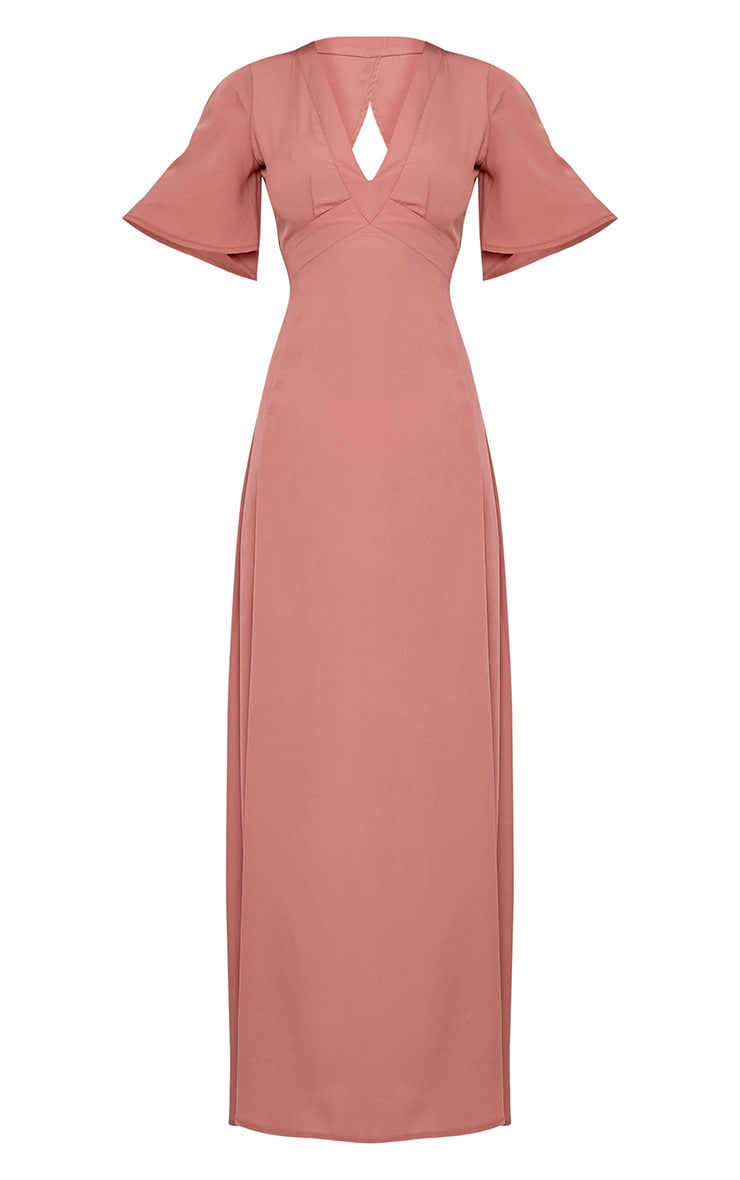 Haylia Dark Nude Kimono Sleeve Maxi Dress 3
